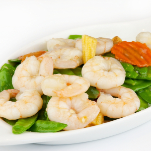 F15 Sauteed Prawns with Snow Peas