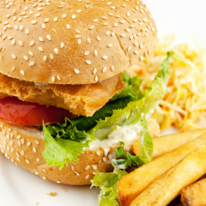 Chicken Burger Platter