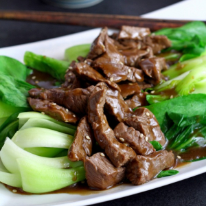 Sliced Beef with Oyster Sauce