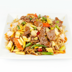 130. Sliced Beef or Chicken in Szechuan Style Sauce