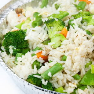 Mixed Vegetable Fried Rice 什菜炒飯