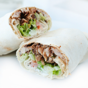 Chicken Pita Souvlaki Wrap