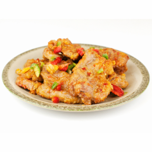 Boneless Pork Chop with Chips in Peking Sauce