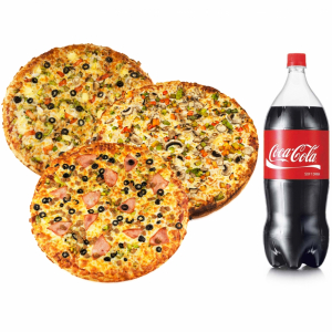 Combo 1: 3 for 1 Party Pack Pizzas