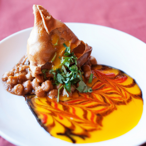 Veggie Samosa with Chana