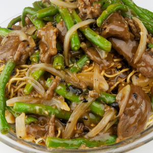 431. Noodles with Green Soy Bean and Chicken Like Vegetable Bean Curd