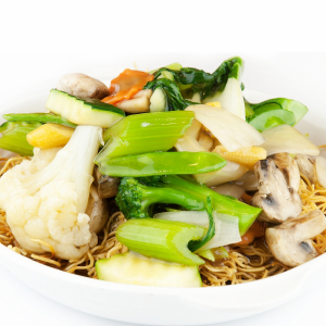 Bird's Nest with Mixed Vegetables 什菜雀巢