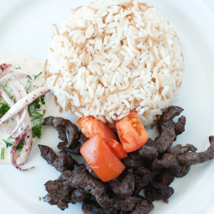 #05 Real Beef Shawarma Platter (New!)