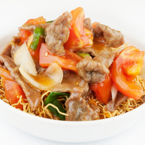 Beef and Tomato Chow Mein