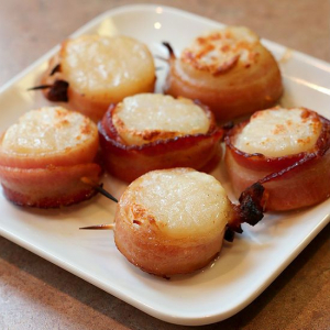 10. Bacon Scallops (2 pcs)