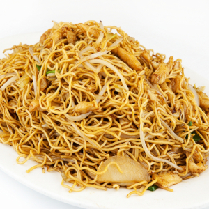 F10. Curry Chicken or Beef Chow Mein