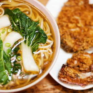 Pork Ribs (Bone-In) Noodle Soup