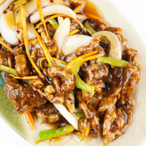 69. Beef with Honey Pepper Sauce