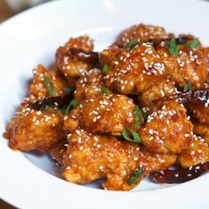 47. Deep-Fried Tofu in General Tao's Sauce