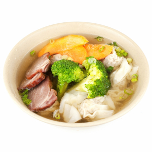 2. Vegetable and Pork Wonton Soup