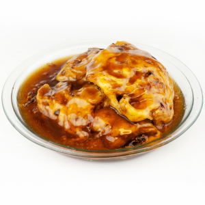 21. Shredded B.B.Q Pork Egg Foo Young