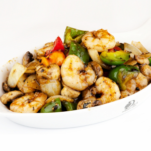 158. Sauteed Prawns in Black Bean Sauce