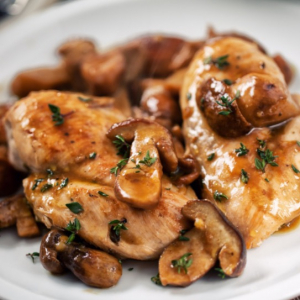 Chicken with Three Variety Mushrooms