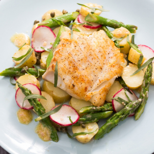 150. Cod Filet with Mixed Vegetables