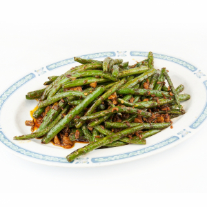 122. String Bean with Beef in Laoganma Chili Oil