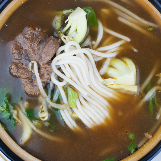 6. Rice Noodles, Well-Done Flank, and Brisket in Soup - Pho Chin Nam Gau
