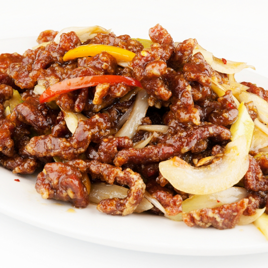 50. Stir Fried Beef with Red Pepper