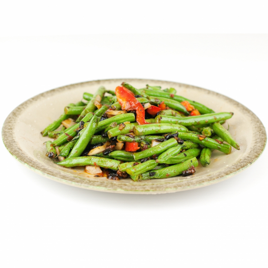 114. Green Beans with Black Bean Sauce
