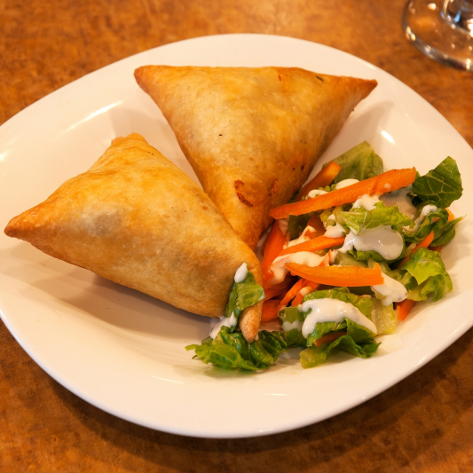 1. Vegetable Samosa