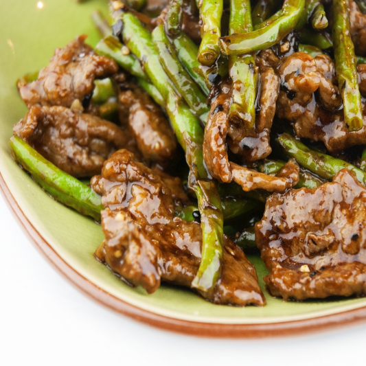 76. Beef with Green Beans in Black Bean Sauce