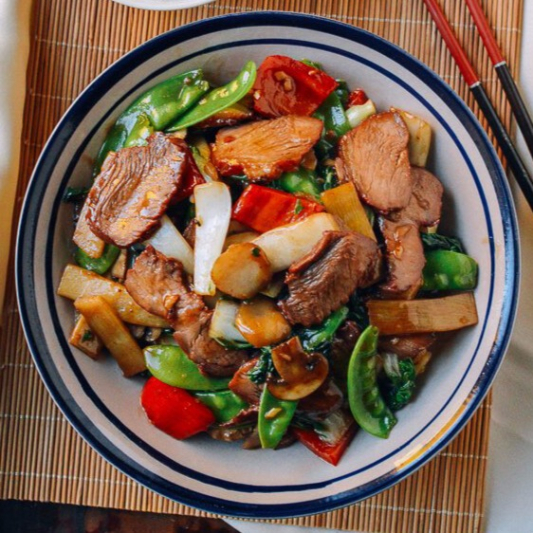126. BBQ Pork with Mixed Vegetables