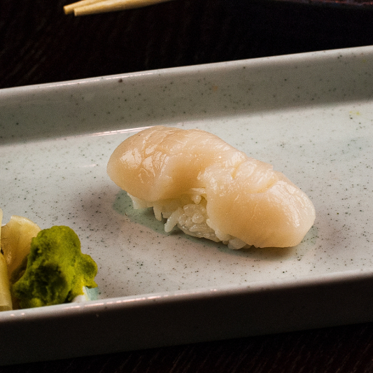 E02. Spicy Scallop Nigiri