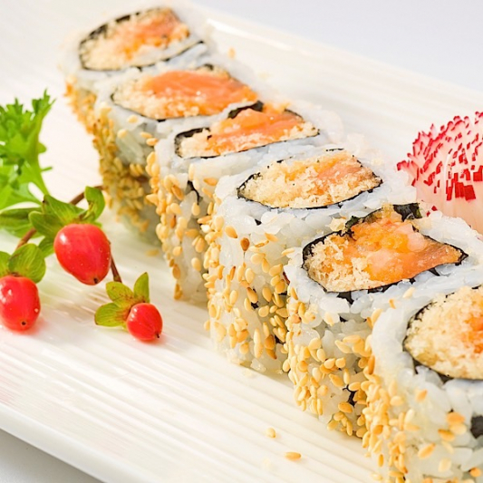 Spicy Salmon Tempura Roll