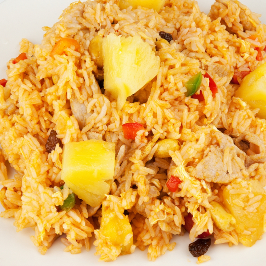 Pineapple Fried Rice with Chicken