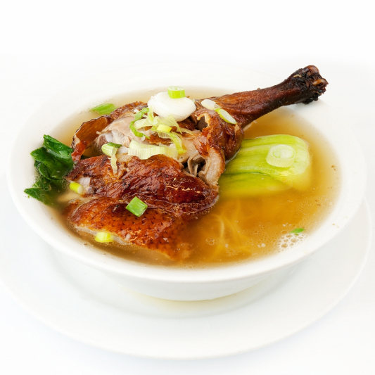 152. B.B.Q. Duck & Wonton Noodle in Soup