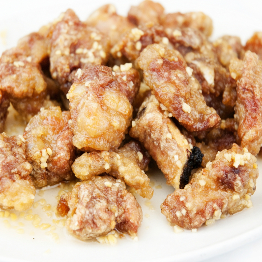 47. Honey Garlic Spareribs or Boneless Pork