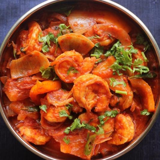 100. Shrimp Kadhai
