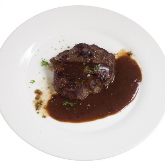 (21) __ Steak with Onion Sauce
