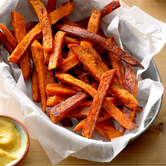 Sweet and Sour Yam Fries