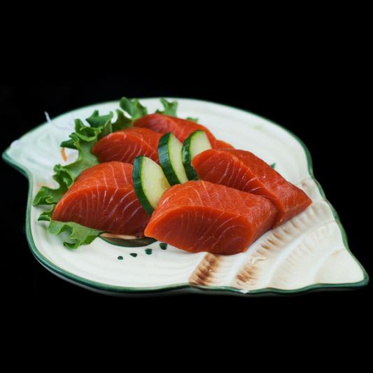 36. Wild Salmon Sashimi (5 pcs)