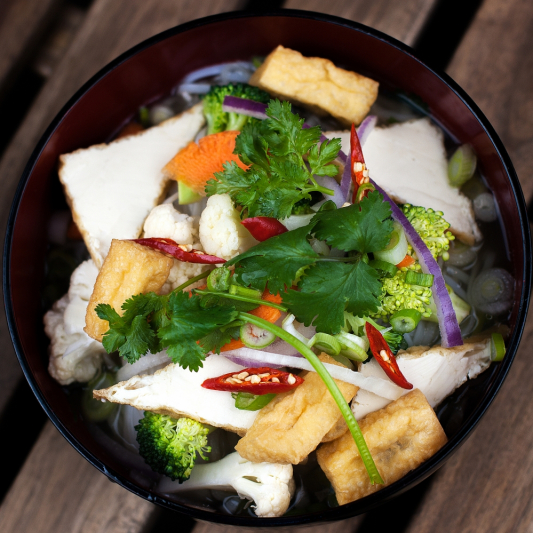 6. Veggie and Tofu Noodle Soup