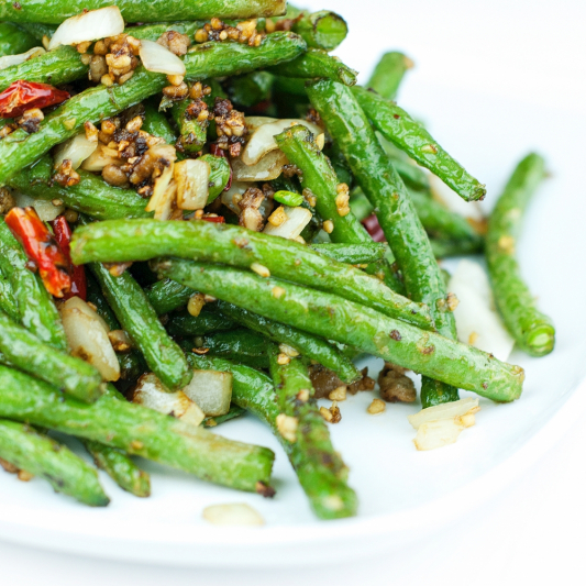 E13. Pan Fried Minced Pork and String Bean