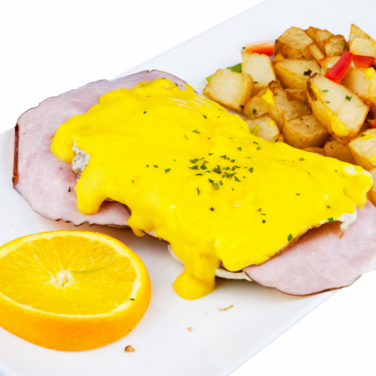 35. Eggs and a Choice of Bacon, Sausages, or Ham