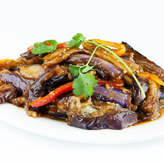52. Stir Fried Spicy Eggplant & Green Beans