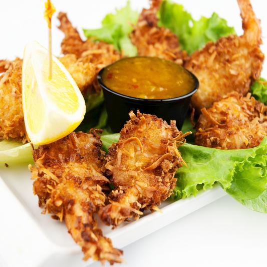 Deep-Fried Coconut Shrimp (4 pcs)
