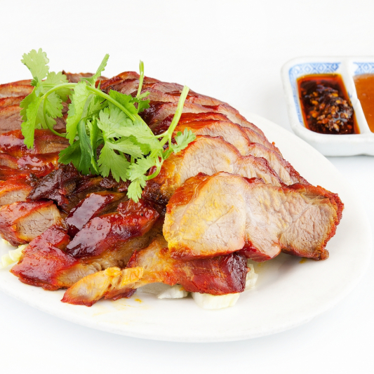 Sliced BBQ. Pork