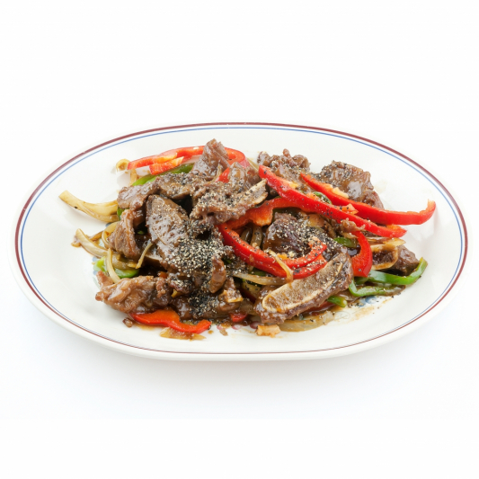 80. Shredded Beef Tenderloin in Black Pepper Sauce