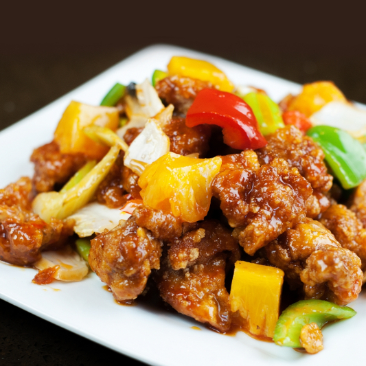 52. Sweet-and-Sour Chicken with Pineapple and Ginger