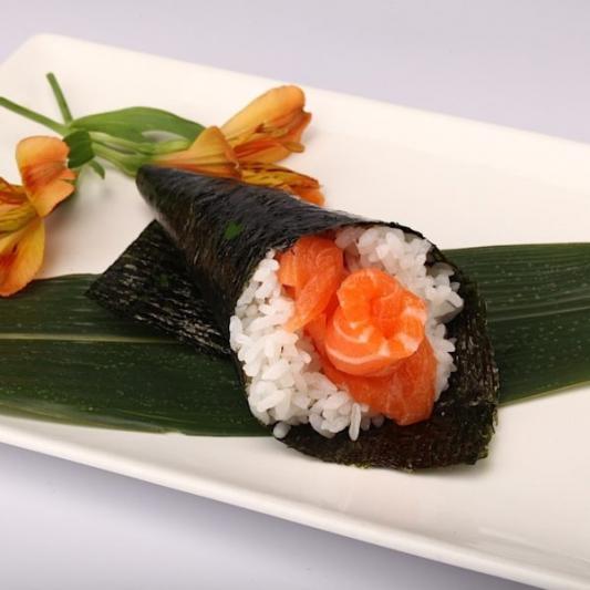 Salmon Teriyaki Cone