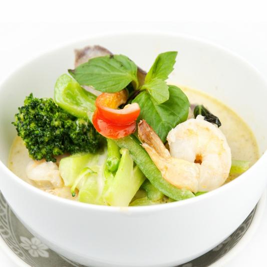 12. Thai Green Curry Prawn