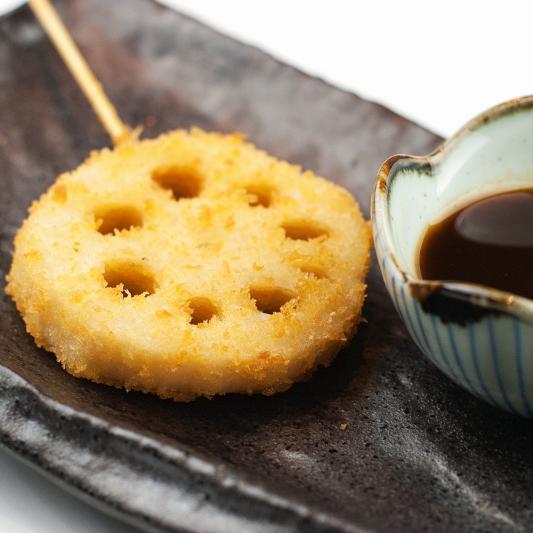 720. Racines de Lotus Frits avec Sauce Aigre-Piquant / Fried Hot & Sour Lotus Roots / 酸辣藕丁